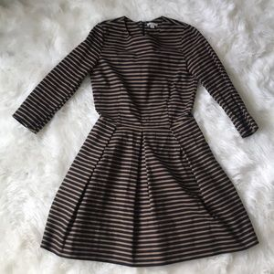 Gap Black and Brown Stripped Dress